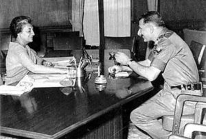 Sam Manekshaw and Indira Gandhi