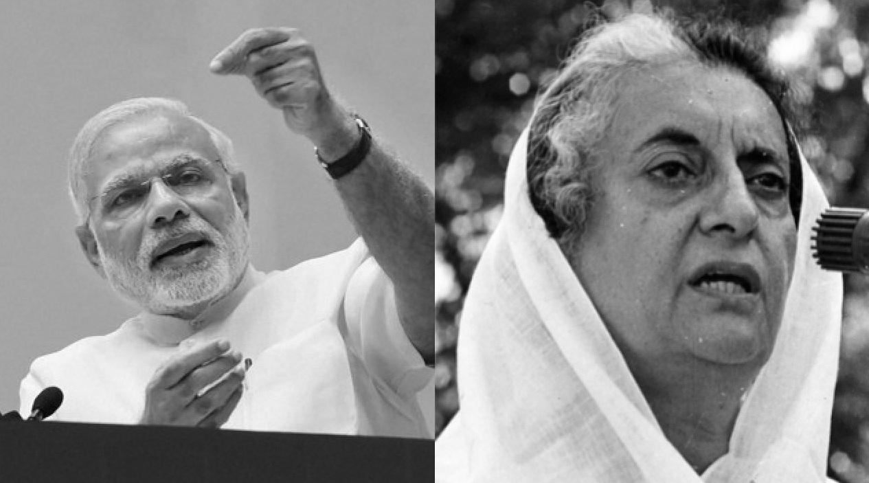 Narendra Modi and Indira Gandhi
